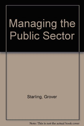 9780256019360: Managing the Public Sector (The Dorsey series in political science)
