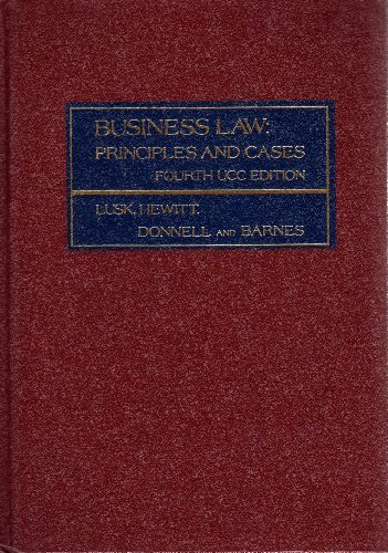 9780256020212: Business Law: Principles and Cases