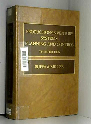 9780256020410: Production-Inventory Systems: Planning and Control