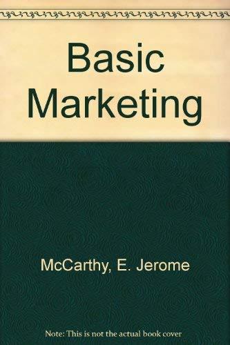9780256020489: Basic Marketing