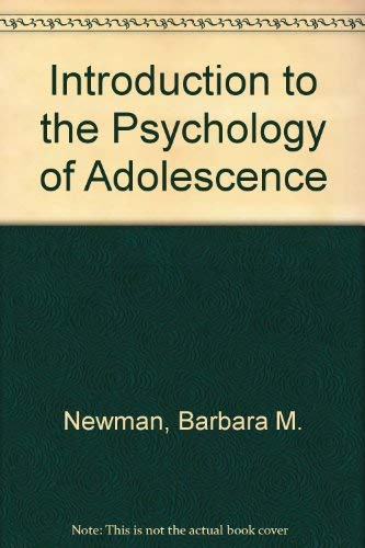 9780256021882: Introduction to the Psychology of Adolescence (The Dorsey series in psychology)