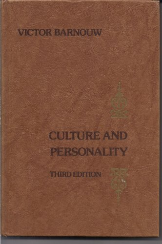 9780256021936: Culture and Personality (The Dorsey series in anthropology)
