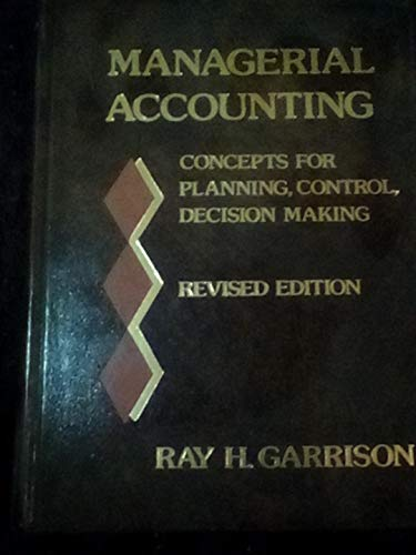 9780256022094: Managerial accounting : concepts for planning, control, decision making