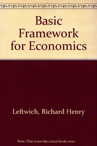 9780256023091: Basic Framework for Economics