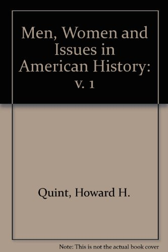 9780256023114: Men, Women and Issues in American History: v. 1