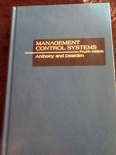 9780256023251: Management control systems