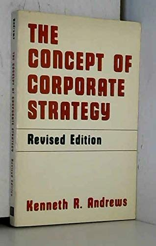 9780256023718: The Concept of Corporate Strategy