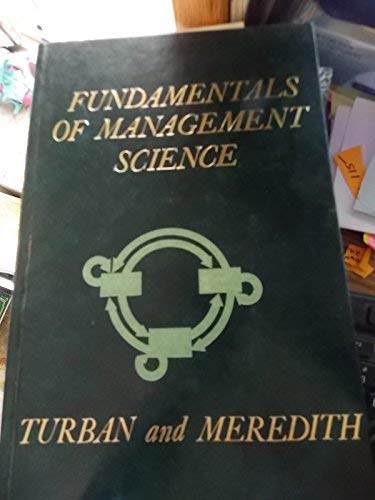 9780256023930: Fundamentals of Management Science