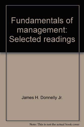 9780256024265: Fundamentals of management: Selected readings