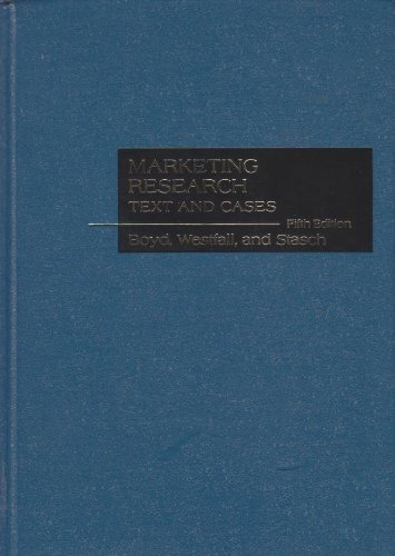 Marketing research: Text and cases: Boyd, Harper W