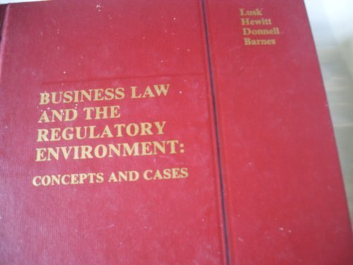 Business law and the regulatory environment: Concepts: Harold F.; Hewitt