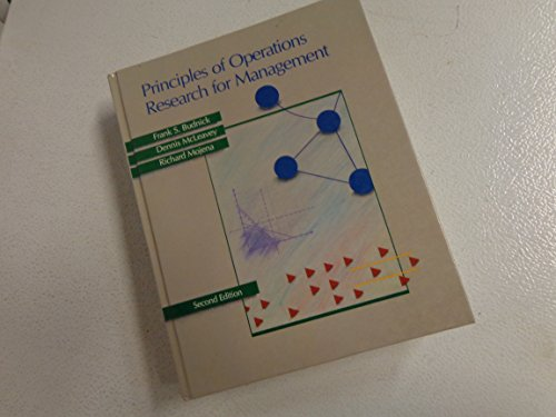 9780256026436: Principles of Operations Research for Management (Irwin Series in Quantitative Analysis for Business)