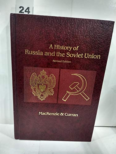 9780256026603: A history of Russia and the Soviet Union (The Dorsey series in European history)