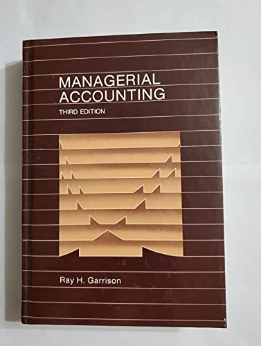 9780256026900: Managerial Accounting: Concepts for Planning, Control, Decision Making
