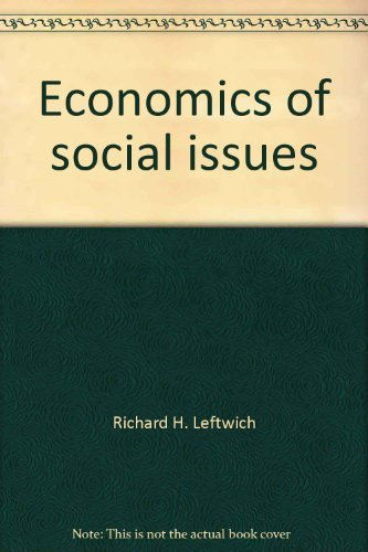 9780256027013: Economics of social issues