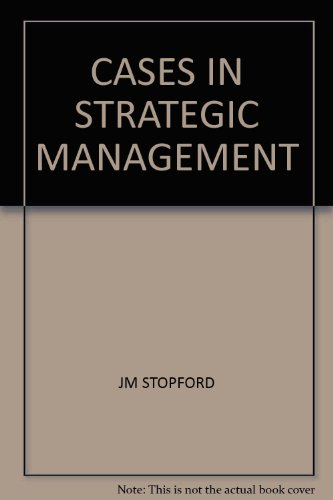 9780256027532: Cases in strategic management