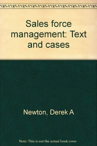 9780256027556: Sales force management: Text and cases