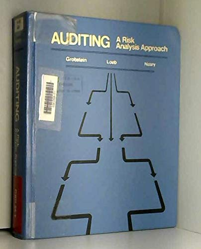 9780256027914: Auditing: A Risk Analysis Approach (ROBERT N ANTHONY/WILLARD J GRAHAM SERIES IN ACCOUNTING)