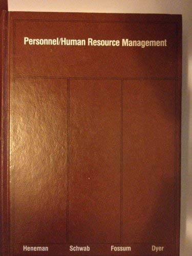 9780256028355: Personnel/human resource management (The Irwin series in management and the behavioral sciences)