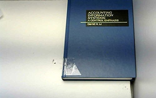 9780256029093: Accounting Information Systems: A Control Emphasis (ROBERT N ANTHONY/WILLARD J GRAHAM SERIES IN ACCOUNTING)
