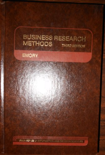 9780256030099: Business Research Methods