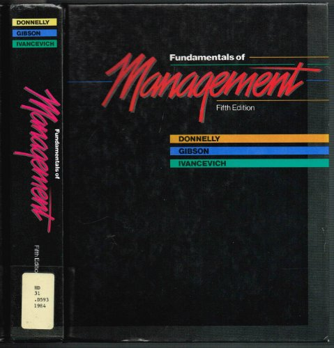 9780256030570: Fundamentals of management