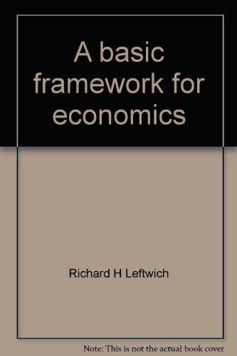 9780256030686: A basic framework for economics