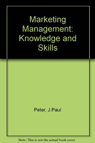 9780256030730: Marketing Management: Knowledge and Skills