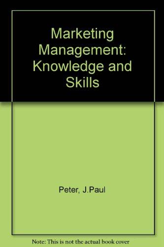 9780256030730: Marketing Management: Knowledge and Skills
