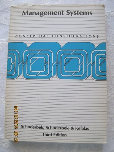 9780256030754: Management systems: Conceptual considerations