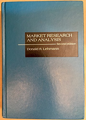 9780256030846: Market research and analysis