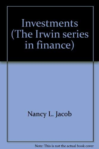 9780256030990: Investments (The Irwin series in finance)