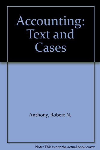 solution accounting text and cases anthony hawkins and merchants chapter 2 Access accounting 13th edition chapter 11 solutions now our solutions are written by chegg experts so you can be robert n anthony, david f hawkins.