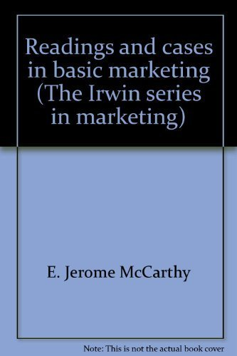 9780256031317: Readings and cases in basic marketing (The Irwin series in marketing)