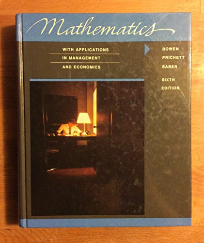 Mathematics: With Applications in Management