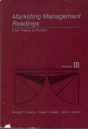 9780256031522: 3: Marketing Management: Readings