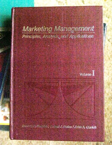 Marketing Management: Principles, Analysis and Applications (Irwin: Benson P. Shapiro,