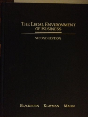 9780256032079: The legal environment of business