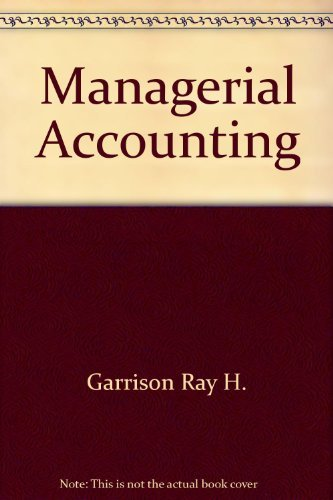 9780256032628: Managerial Accounting