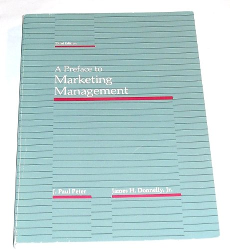 9780256032734: Preface to Marketing Management