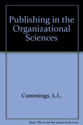 9780256033083: Publishing in the Organizational Sciences