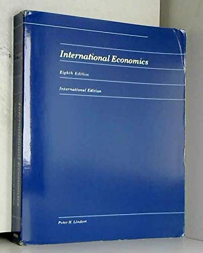 9780256033427: International Economics (Irwin publications in economics)