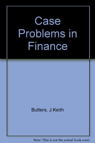 9780256033540: Case Problems in Finance