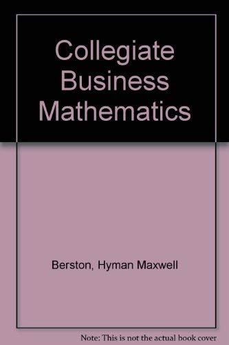 9780256033779: Collegiate Business Mathematics