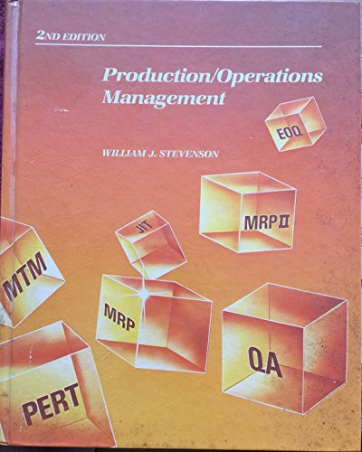 9780256033793: Production/Operations Management (The Irwin series in quantitative analysis for business)