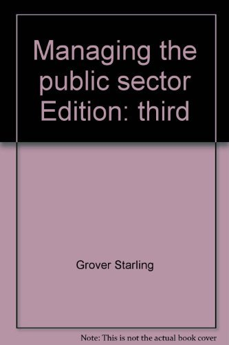 9780256033946: Managing the public sector