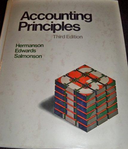 9780256034158: Accounting principles