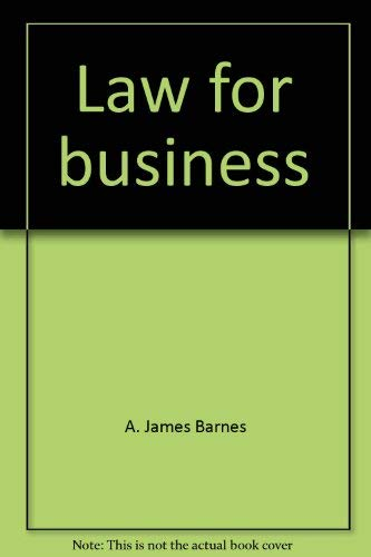 9780256035193: Law for business
