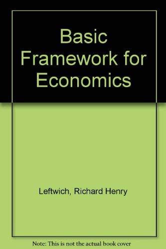 9780256037029: Basic Framework for Economics