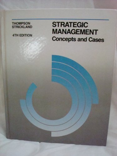 thompson and strickland strategic managemen Thompson/strickland is the strategic management market leader by a wide margin the eleventh, or alternate, edition of the book contains exactly the same text as the 10th edition but includes all new cases.